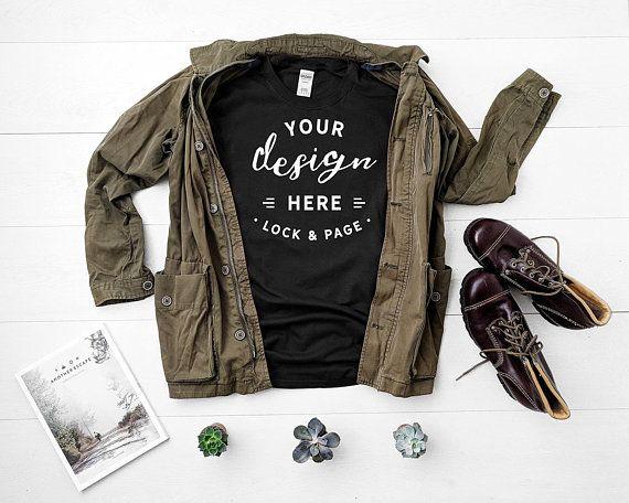 Download Gildan Black Unisex Tshirt Mockup Flat Lay Mens Shirt Mock Up Etsy Tshirt Mockup Psd Mockup Template Shirt Mockup