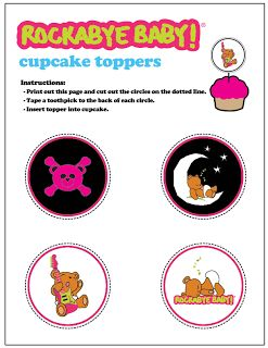 Rockabye Baby: Free Printable Toppers, Frame and Cards for the Mother´s Day.