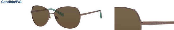 Kate Spade Candida/P/S EQ6 Almond (VW brown polarized len) Metal Sunglasses 58mm