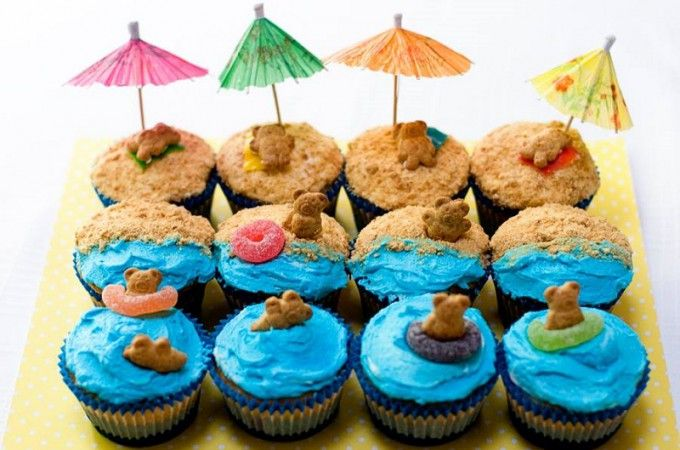 Cuisiner des cupcakes de plage! MIGNON!!! | Trucs et Bricolages