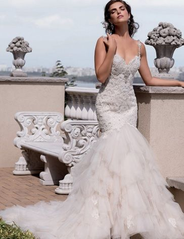 Vintage Lace Mermaid Wedding Dress -dream weddings Australia wholesalers www.dreamweddingsaustralia.com.au