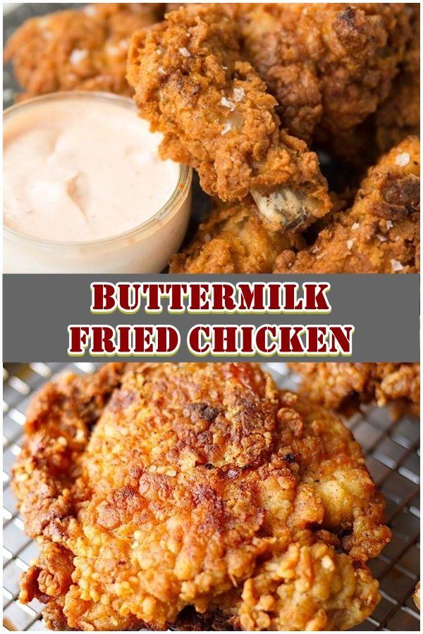 Buttermilk Fried Chicken In 2020 Chicken Dishes Recipes Fried Chicken Recipe Easy Fried Chicken Recipes