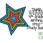 This is a study guide to help review for the Texas STAAR Writing test. Ive included a blank and completed guide. ...