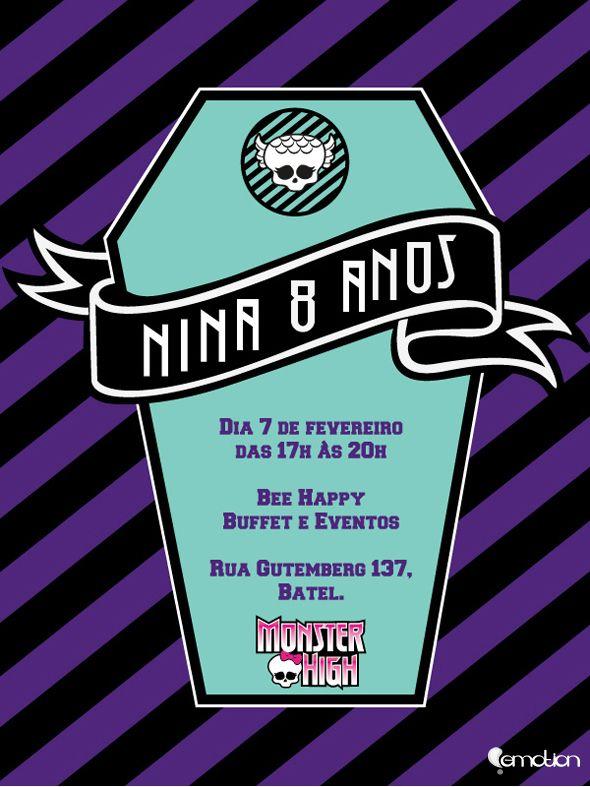 Convite on line Monster High