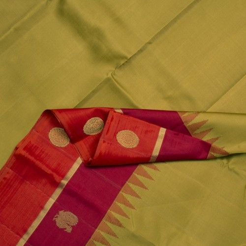Kanakavalli Handwoven Kanjivaram Korvai Sari 000903