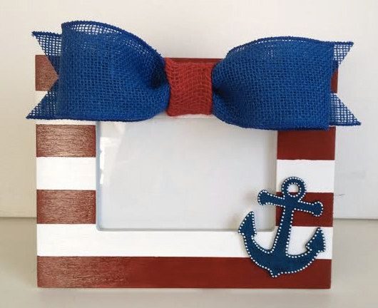 Nautical Picture Frame with Anchor Nautical by DesignsByDecker, $30.00