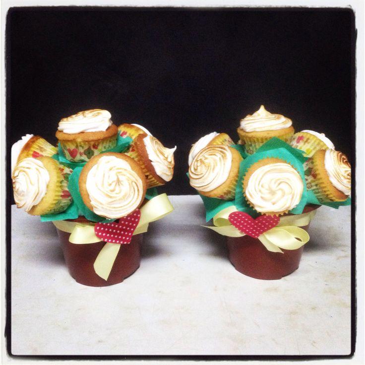 Cupcakes Maceta de Pie de Limón