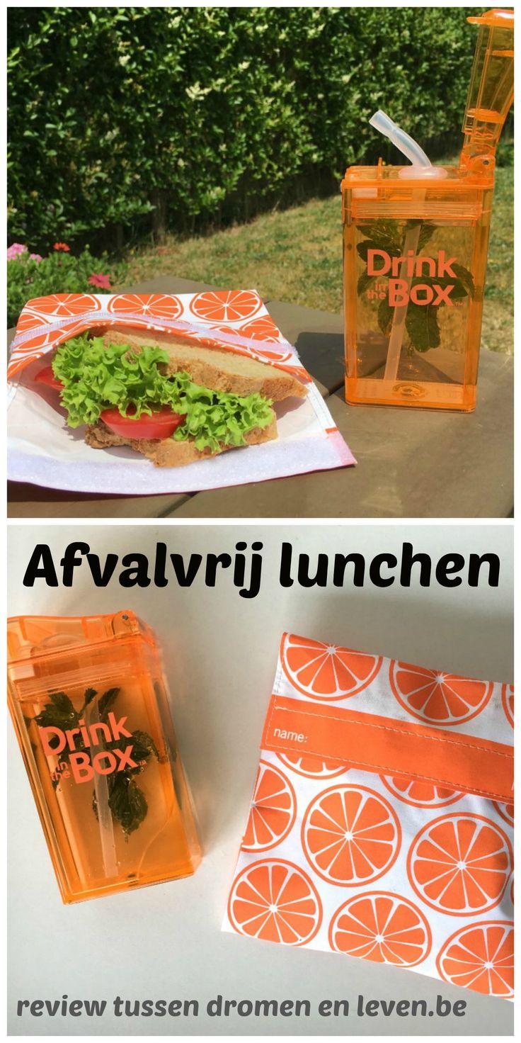 Afvalvrij lunchen op school of kantoor. Zero-waste, duurzaam, groen leven, verpakkingsvrij, ecologisch