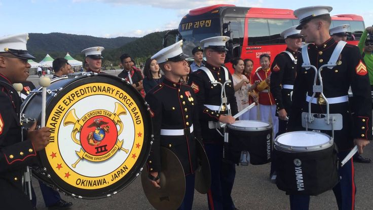 United States Marine Band Takes on the Republic of Korea Army Band in a Friendly Parking Lot Drum Battle