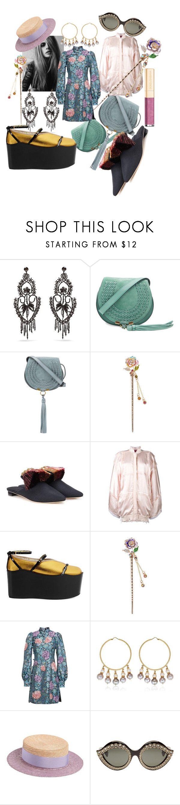 """#77  Spring 2017"" by marina-antipanova ❤ liked on Polyvore featuring Gucci, Chloé, Sanayi 313, Di Liborio, Marc Jacobs, Carolina Bucci, Federica Moretti and Dolce&Gabbana"