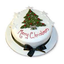 Tree Merry Christmas cake