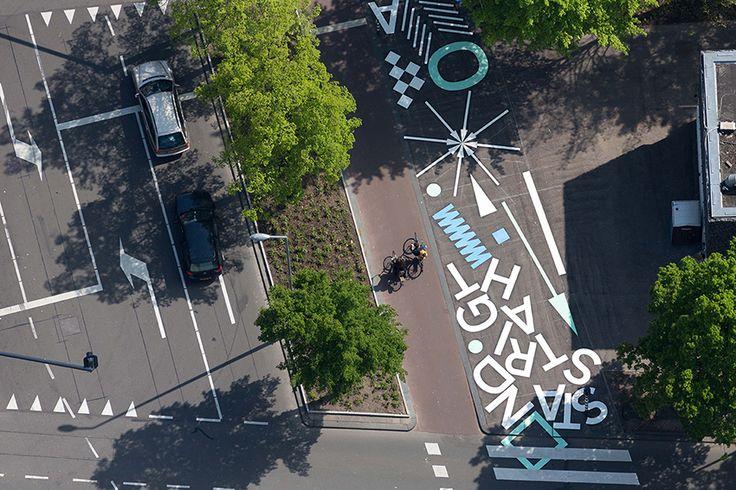 opperclaes designs 'creative crosswalk' in rotterdam