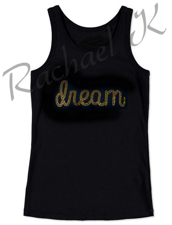 Women s Rhinestone Gold embellished Crystal Bling Sexy Lingerie  dream  Tank Top