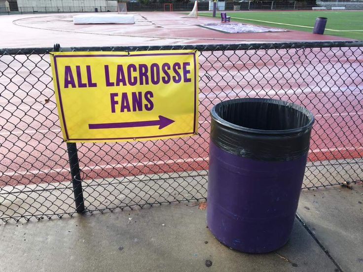 Went to a lax game to support a friend and saw this..