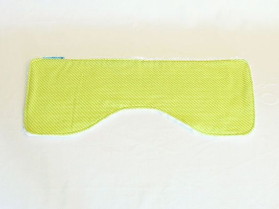 Burper  Green Stripe burp cloth spit cloth spew by OneCrazyMumma