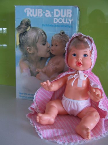 My sister had this doll (which we called Rubby).  My nephew used to take it everywhere and he called her Fat Baby.  :)