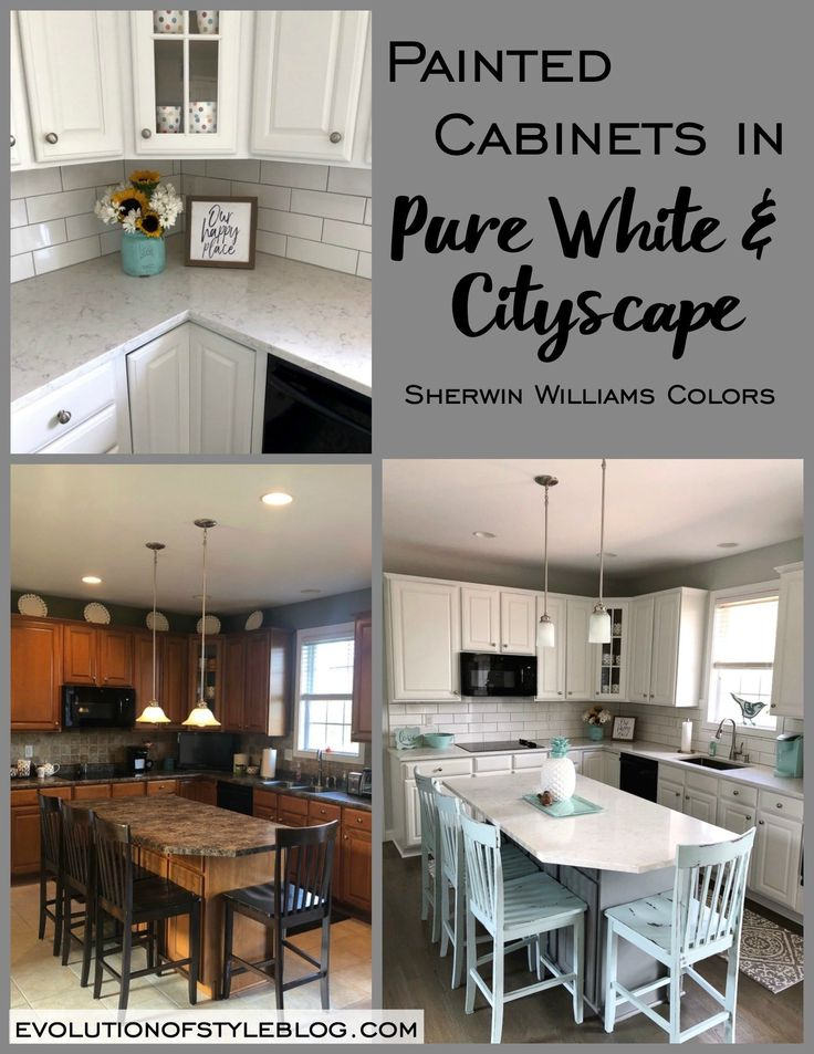 Painted Kitchen in Sherwin Williams' Pure White
