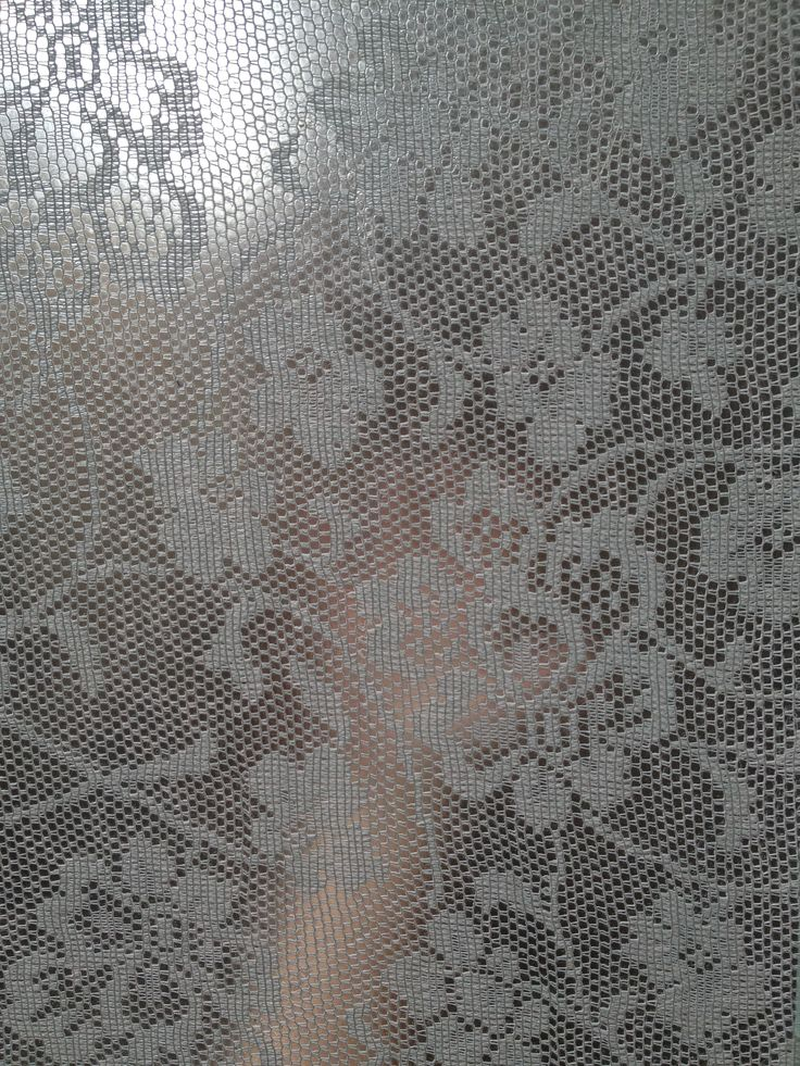 Starched lace window treatment follow up