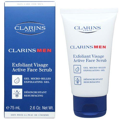 Clarins Men Active Face Scrub, 2.6-Ounce by Clarins. Save 4 Off!. $19.29. CLARINS MEN ACTIVE FACE SCRUB 2.6OZ/75ML