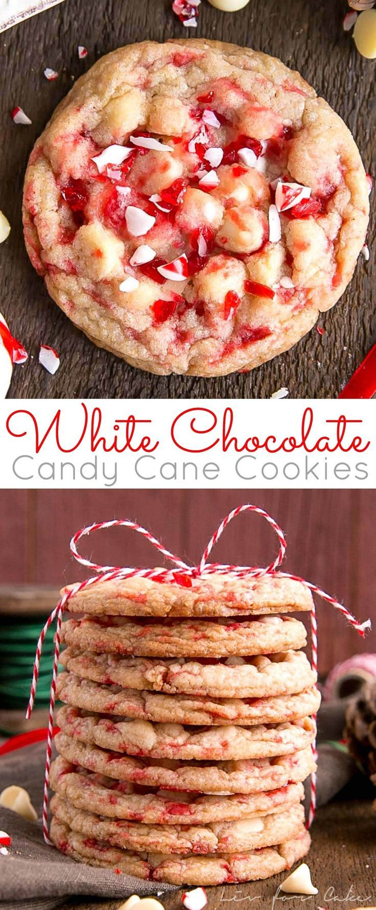 These White Chocolate Candy Cane Cookies Are Crispy Chewy And