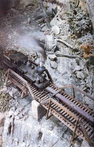 model railroad waterfall | Apparently he used angel hair (same material used for aquarium filter ...