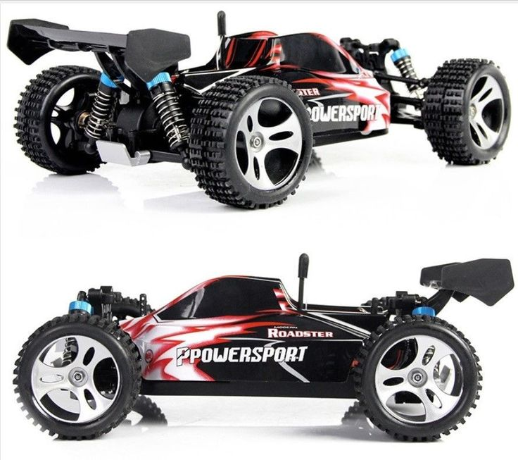 New Rechargeable 1:18 Scale 4WD 2.4G RC Car Remote Control Off-Road Vehicle(Red)