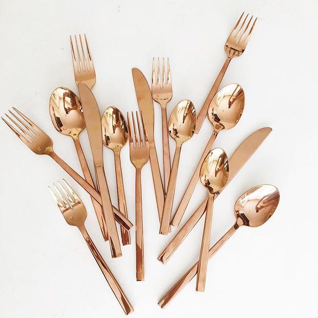Copper Flatware :)