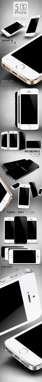 Free Download - New 5S iPhone Mockup Set on Behance #resources via @Lisa a Farme / Anne Boisen #freebie