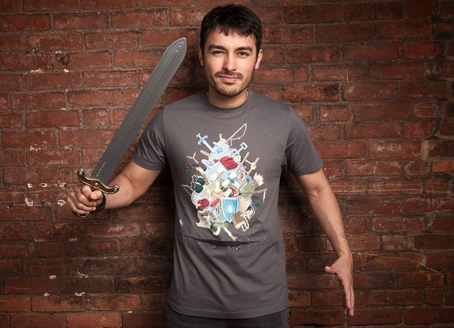 """It's Dangerous to Go Alone! Take This"" - Threadless.com - Best t-shirts in the world"