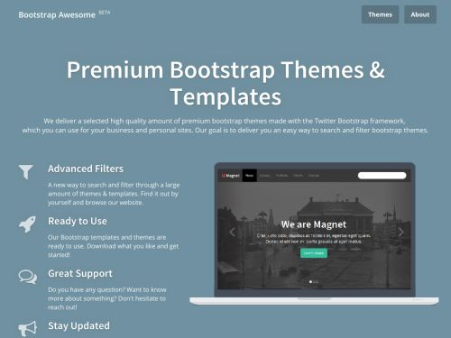 Bootstrap Awesome: Premium Bootstrap Themes & Templates