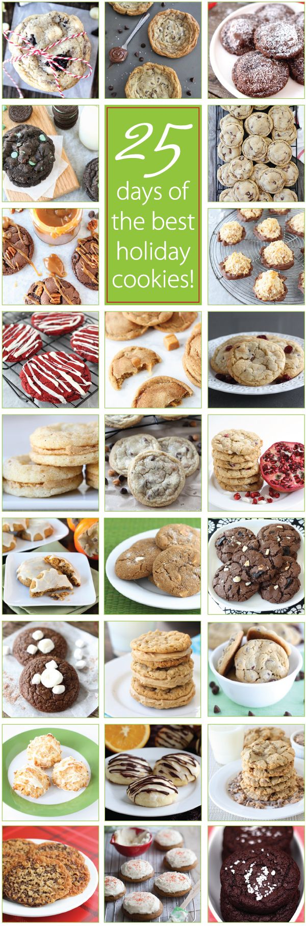 25 Days of the BEST Holiday Cookie Recipes on twopeasandtheirpod.com You will want to make ALL of these cookies!