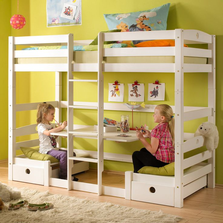 29 best hochbett images on pinterest child room girl. Black Bedroom Furniture Sets. Home Design Ideas