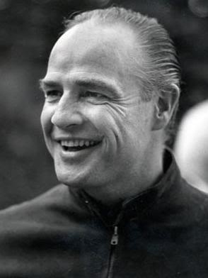 El Padrino, Marlon Brando sin maquillaje durante la filmacion de la pelicula