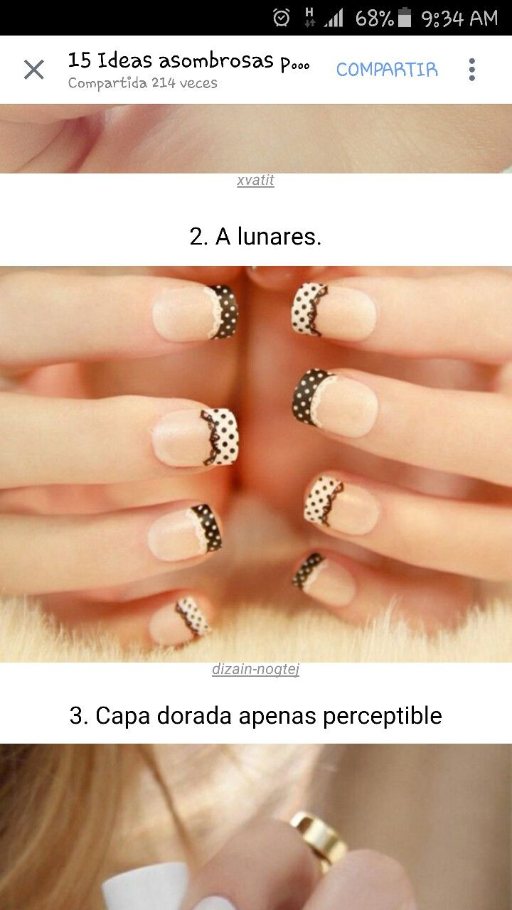 72 best diseños uñas images on Pinterest | Nail decorations, Nail ...