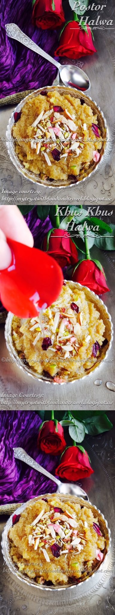 Murshidabad postor halwa / Khus khus halva (Murshidabad style). Recipe link --> https://mytrystwithfoodandtravel.blogspot.ae/2016/07/murshidabad-postor-halwa-recipe-khus.html Try out this Royal dish from the district of Nawabs, Murshidabad. Khus khus halva is sure to tease your visual sense and overwhelm your taste buds. Perfect for celebrations and special occasions and very easy to make.