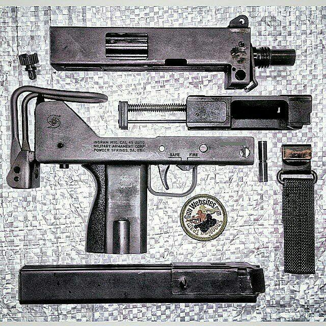 Just a full-auto MAC-10 .45acp submachine gun, no big deal. .  How is your Monday going?  #GunChannels  #Ingram #MAC10 #45acp #FullAutoLife #DirtyMACs #ilovemacs #45AARP