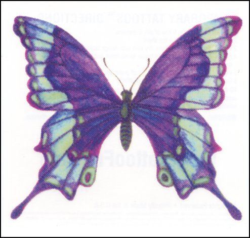 Two purple butterfly tattoos for Lupus, me and my sister ...