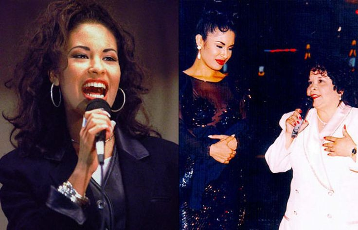 """Tejano singer Selena was also murdered by a deranged fan. The award-winning performer was killed by the president of her fan club (above right, with Selena) in 1995. Selena was just 23 when she died. Her album """"Dreaming of You"""" went No. 1 on Billboard after her death."""