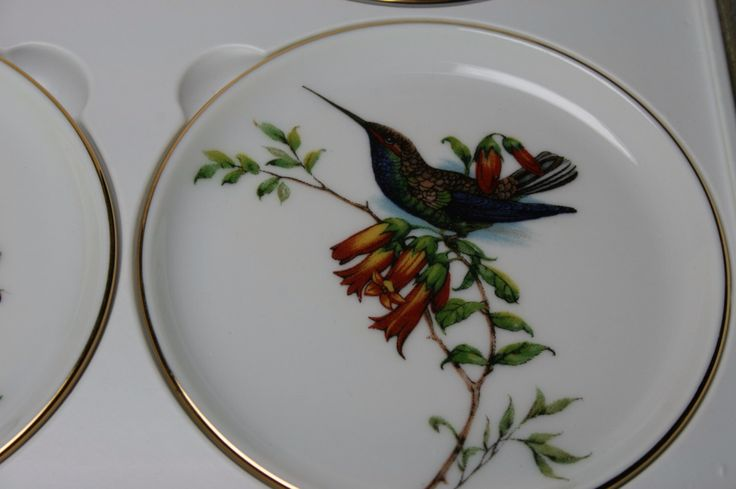 Furstenberg Porzellan Seit 1747 Set of Six Bird Coasters by csforevervintage on Etsy https://www.etsy.com/listing/164654750/furstenberg-porzellan-seit-1747-set-of