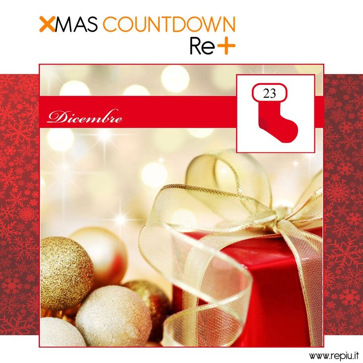 Tra poche ore estrarremo i vincitori del ‪#‎XMAS‬ COUNTDOWN RE+! State connessi! | Just a few hours there will be the draw of the winners of XMAS ‪#‎COUNTDOWN‬ RE+! Stay tuned! www.repiu.it/shop