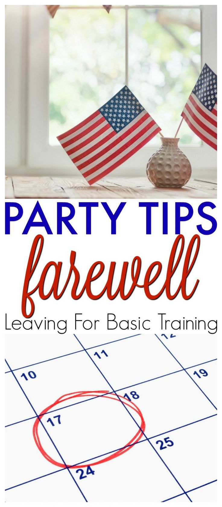 Farewell Party Tips Leaving for Basic Training Farewell Party Tips and Ideas. Basic Training or Boot Camp farewell party. Planning a Party Before Your Son or Daughter Leaves for Basic Training. https://www.southernfamilyfun.com/farewell-party-tips-basic-training/