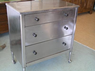 vintage stainless steel dresser