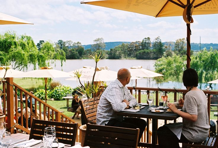 Enjoy a long lunch out on our deck with a gorgeous view of the lake and willow trees! Stillwater at Crittenden, Mornington Peninsula www.stillwateratcrittenden.com.au