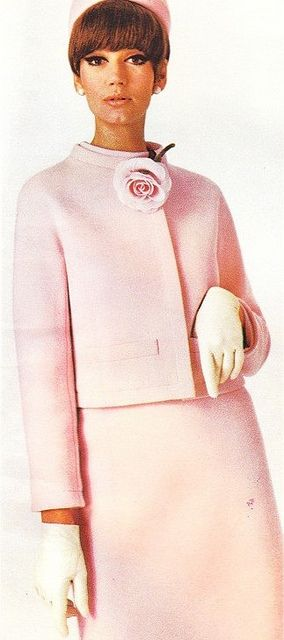 Model Simone D'Aillencourt is wearing a creation by Nina Ricci.Vogue Pattern Book,Fall/Winter 1966.