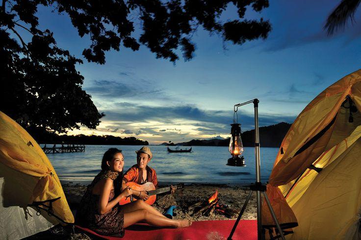 Camping paradise at Kiluan Island.