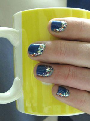 Mira Mira Ladies Night - DIY Nails San Francisco: French Manicures, Lady Night, Diy Style, Pretty Nails, Glitter Nails Polish, French Tips, Reverse French Manicure, Nails Art Diy French, Diy Nails