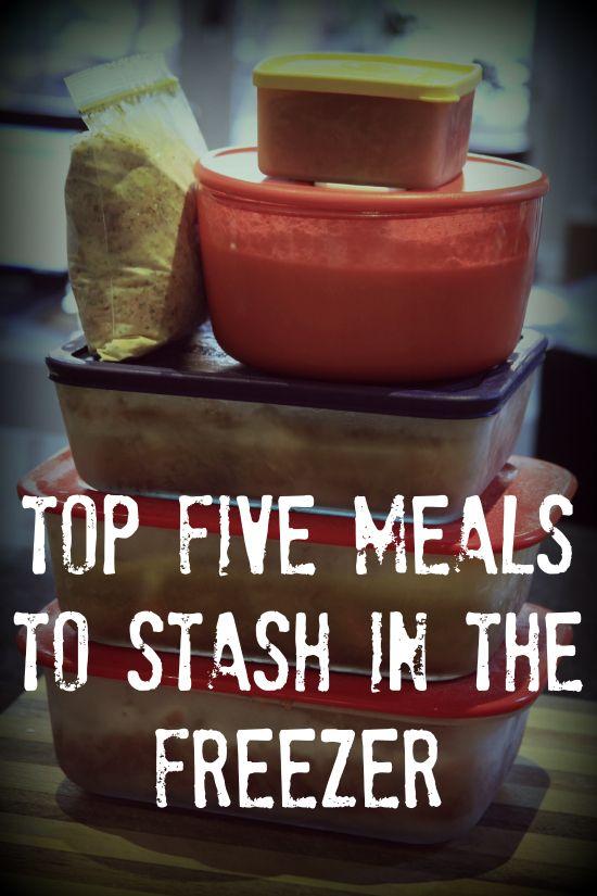 Top 5 freezer meals
