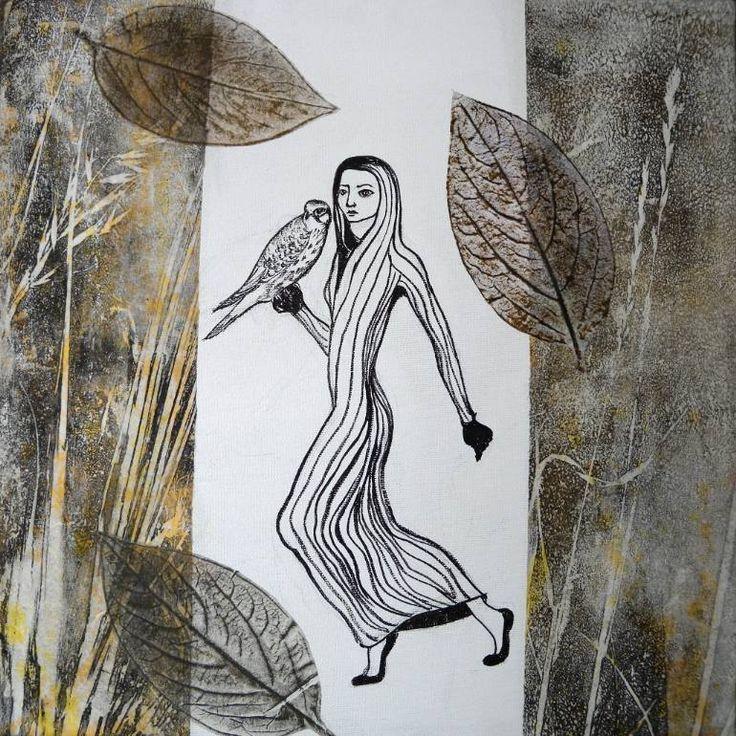 """Saatchi Art Artist Daniela Carletti; Painting, """"The walk"""" #art"""