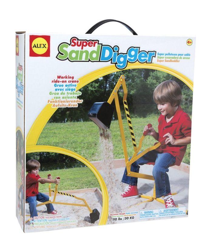 Backhoe Digger Crane Ride Toy Sandbox Beach Snow Outdoor Kids Kid Strong Bucket