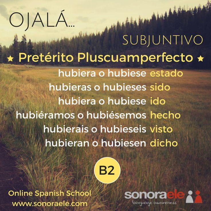 OJALÁ + Pretérito Pluscuamperfecto de Subjuntivo.